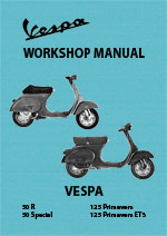 Vespa 50R, 50S, 125 ET3 & Primavera Motor Scooter Workshop Service Repair Manual Download PDF