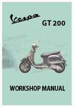 Vespa GT200 Motor Scooter Workshop Service Repair Manual Download PDF