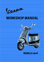 Vespa LX150 Motor Scooter Workshop Service Repair Manual Download PDF