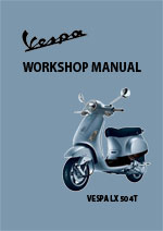 Vespa Lx50 4t Motor Scooter Workshop Repair Manuals