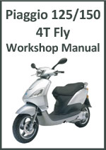 Piaggio 125 and 150 4T Fly Workshop Service Repai Manual Download PDF