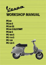 Vespa PK50, 80, 100, 110 & 125 Motor Scooter Workshop Service Repair Manual Download PDF